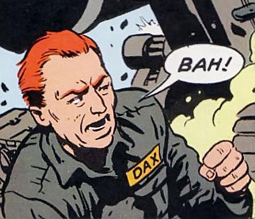 Darius Dax (Supreme enemy) in a gray prison uniform