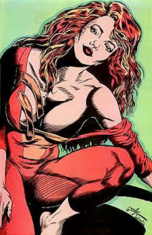 Darkfire (Femforce comics) posing