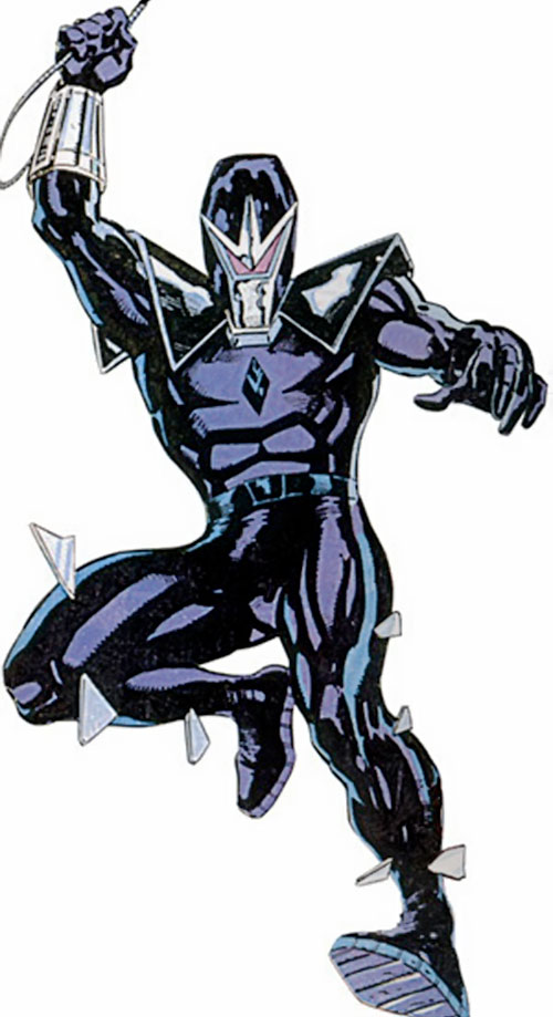 Darkhawk (Marvel Comics) using a swingline