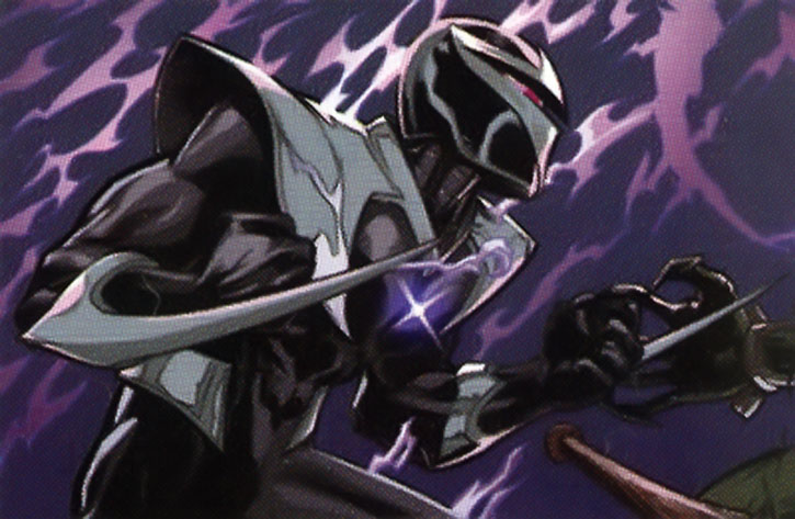 Darkhawk in his later body, with blades extended