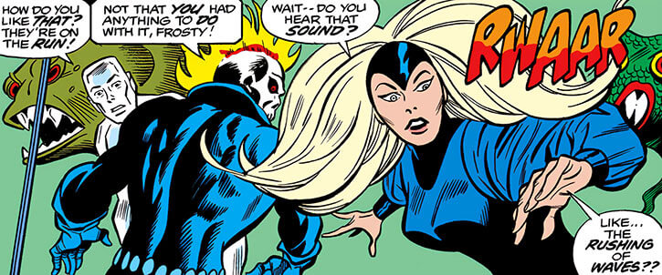 Darkstar - Marvel Comics- Petrovna - Champions - Reacts alarmed