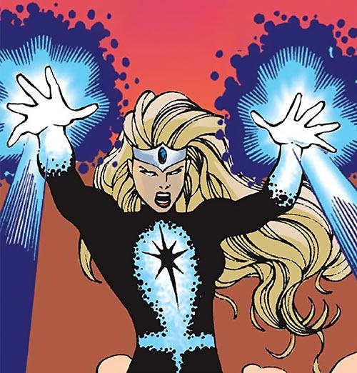 Darkstar - Marvel Comics - Russian super-heroine - Crackles costume
