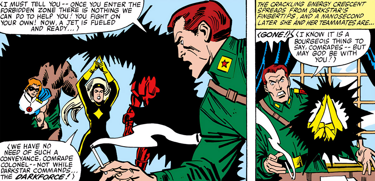 Darkstar - Marvel Comics - Russian super-heroine - Teleportation