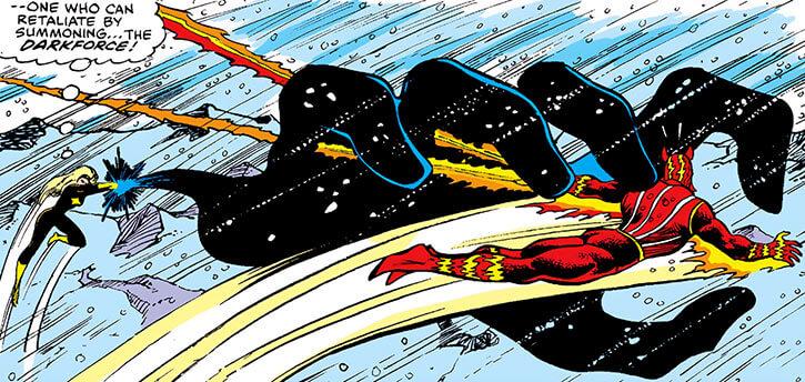 Darkstar - Marvel Comics - Russian super-heroine - Giant hand sunfire