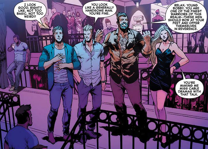 Darkstar - Marvel Comics - Russian super-heroine - Gay club