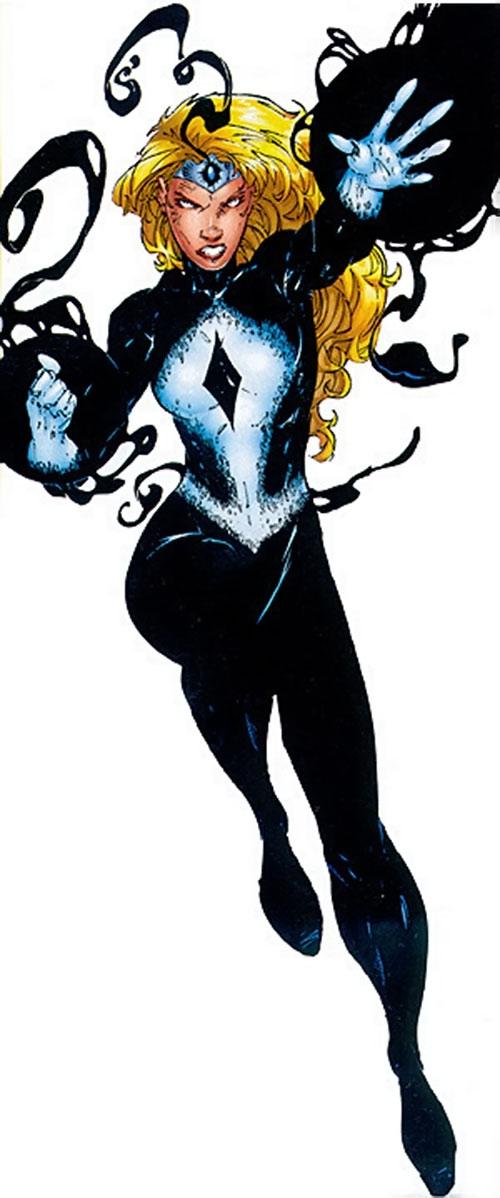 Darkstar (Layna Petrovna) using her darkforce powers