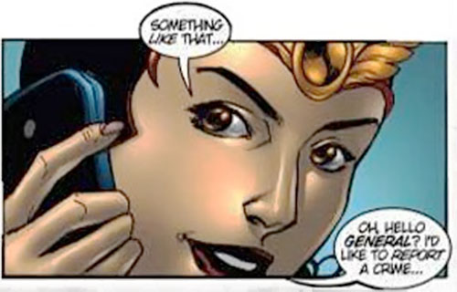 Darna on the phone (Darna comics)