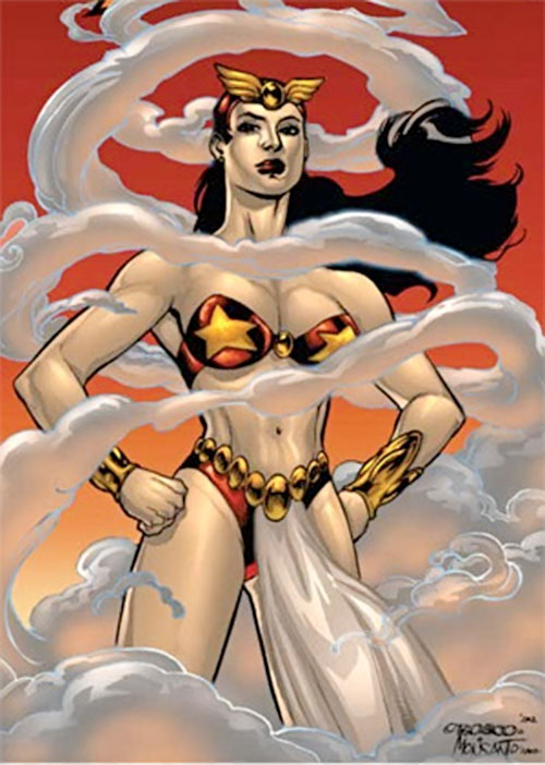 Darna surrounded by mist (Darna comics)