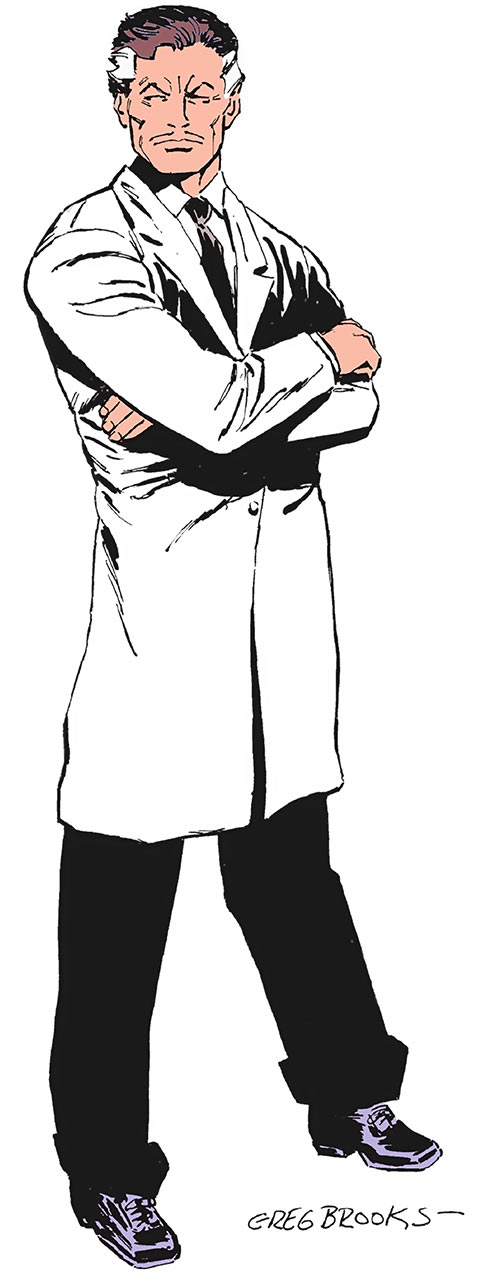 Darwin Jones from the Who's Who (DC Comics), over a white background