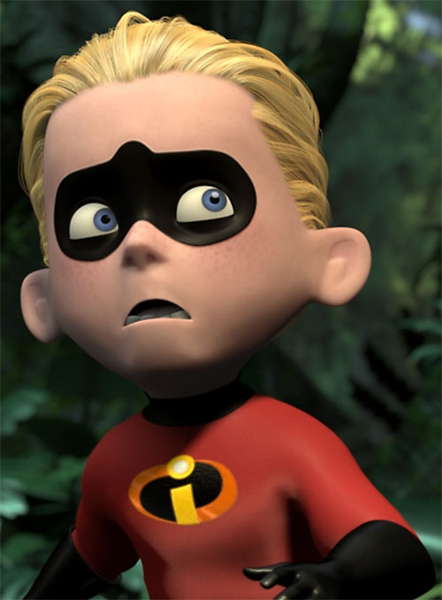 Dash of the Incredibles (Pixar) looking apprehensive