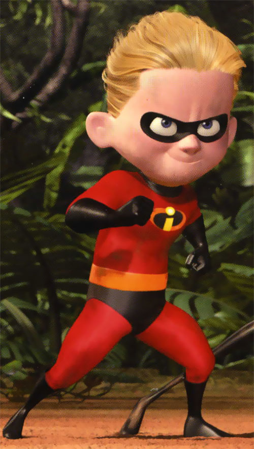 Dash of the Incredibles (Pixar) in a forest