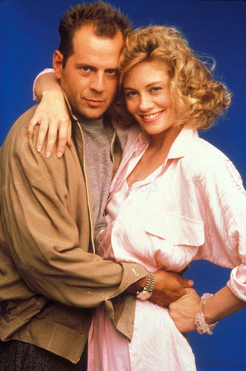 Bruce Willis and Sybil Shepherd in Moonlighting