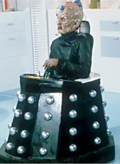Davros of the Daleks (Doctor Who enemy) in black