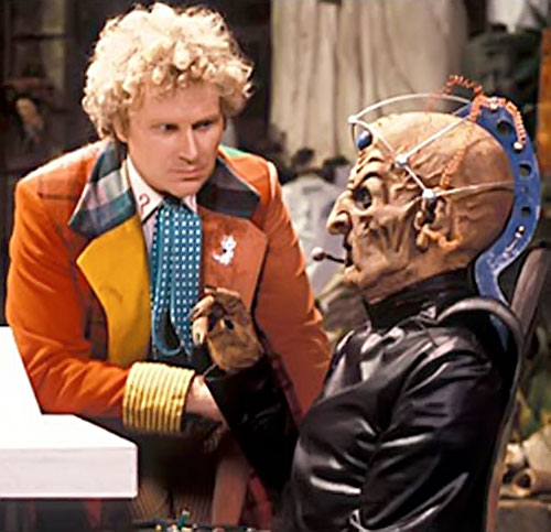 Davros of the Daleks (Doctor Who enemy) and the 6th doctor