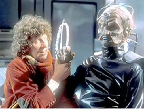 Davros of the Daleks (Doctor Who enemy) and the 4th Doctor
