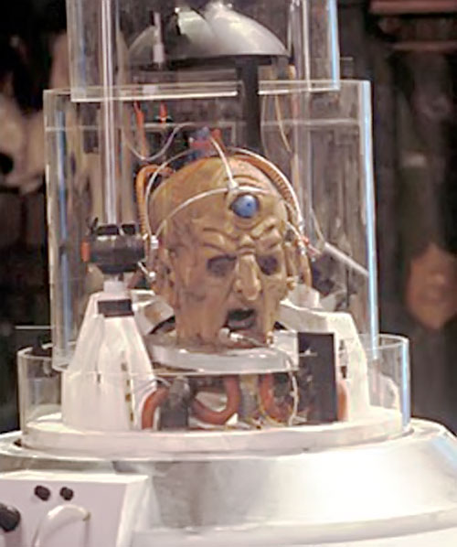 Davros of the Daleks (Doctor Who enemy) severed head