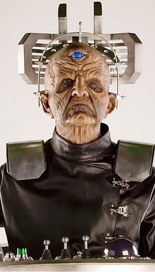 Davros of the Daleks (Doctor Who enemy) face closeup