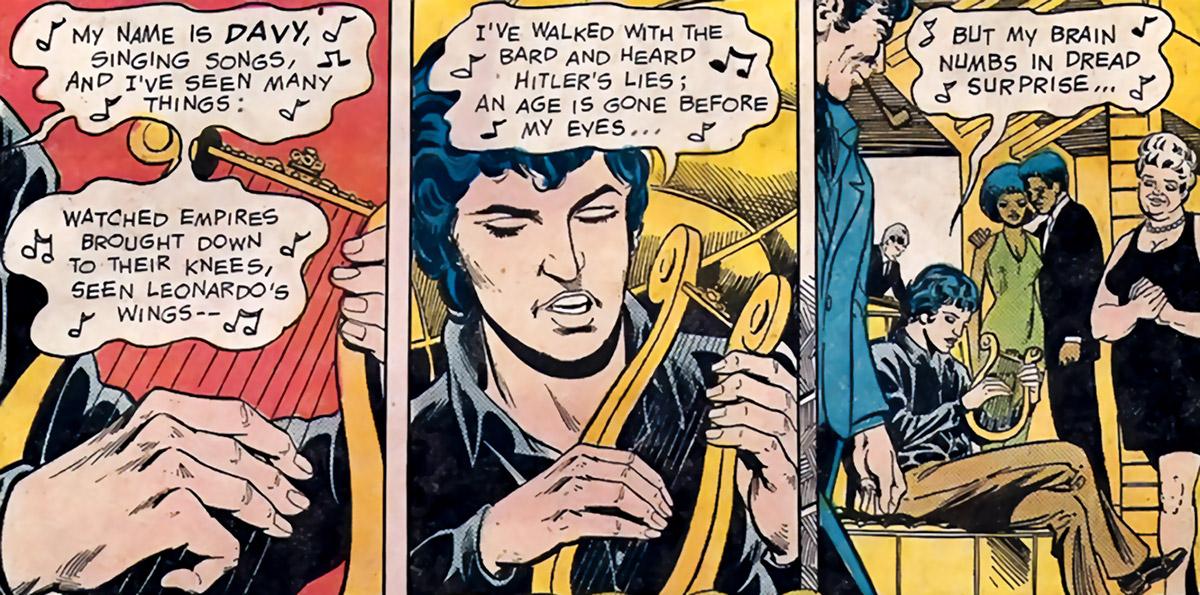Davy Tenzer (King David) (DC Comics Green Arrow) playing the lyre