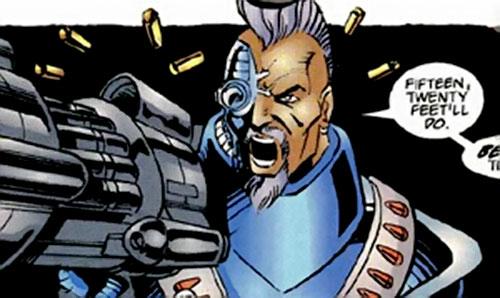 Deadeye of the Exiles (Malibu / Ultraverse comics) firing his cannon