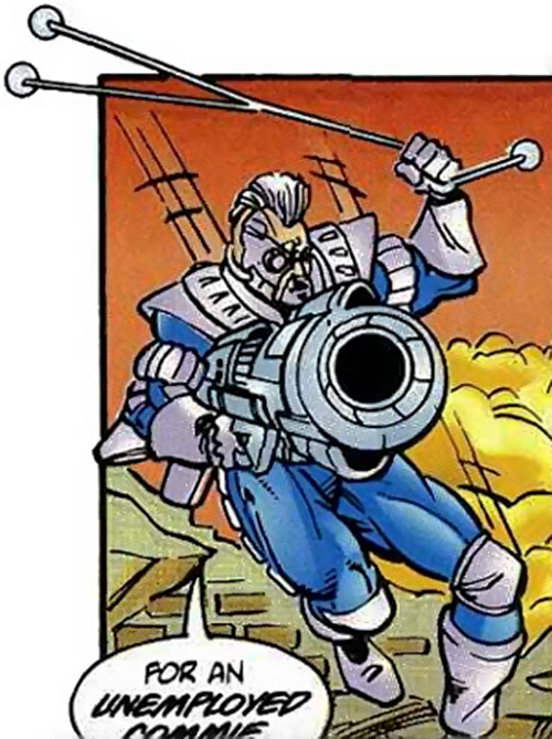 Deadeye of the Exiles (Malibu / Ultraverse comics) with cannon and bola