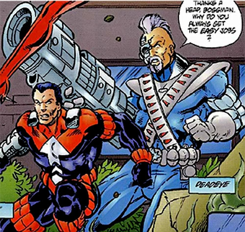 Deadeye of the Exiles (Malibu / Ultraverse comics) and Trax
