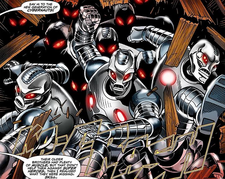 Deadly Nightshade (Tilda Johnson)'s new generation of cybernauts