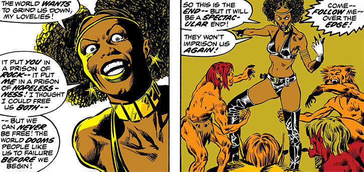 Deadly Nightshade (Tilda Johnson) incites her werewolves
