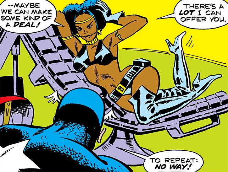 Deadly Nightshade (Tilda Johnson) tries to vamp Captain America