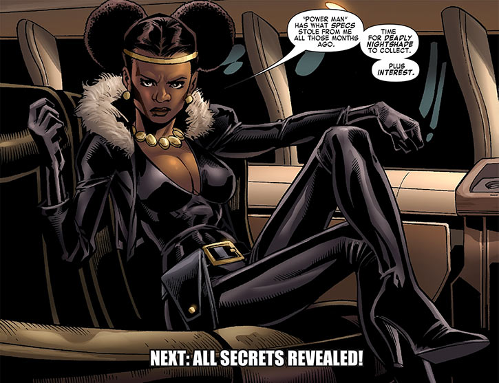 Deadly Nightshade (Tilda Johnson) in her limousine (Marvel Comics)