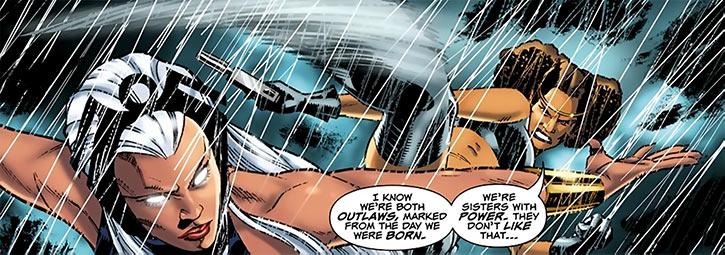 Deadly Nightshade (Tilda Johnson) kicks Storm