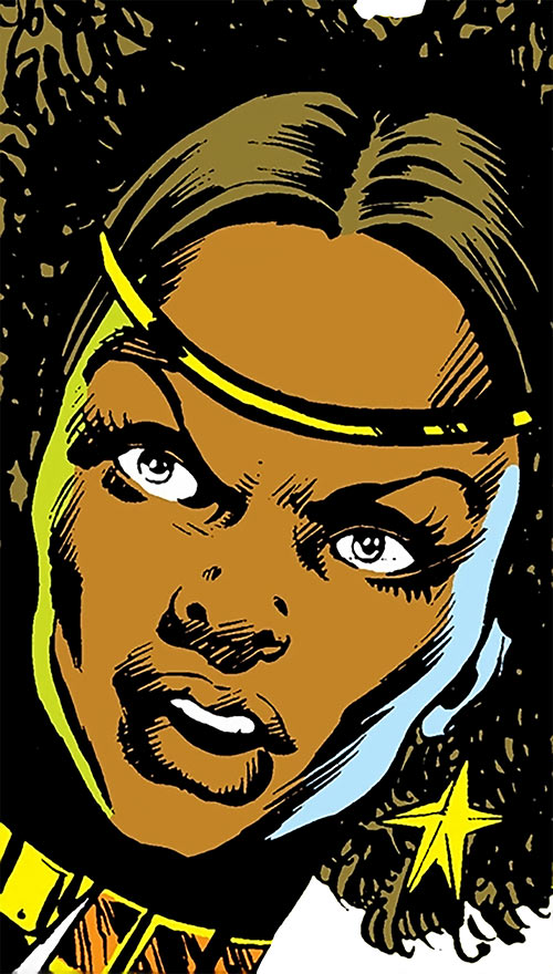Deadly Nightshade (Captain America character) (Marvel Comics) early face closeup