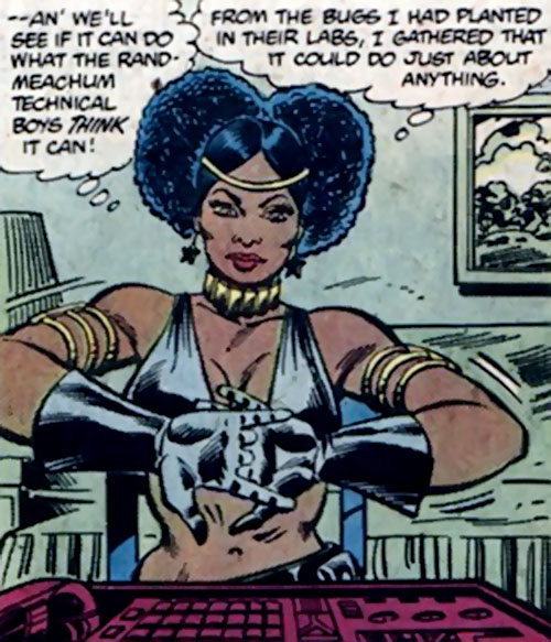 Deadly Nightshade (Captain America character) (Marvel Comics) about to hack