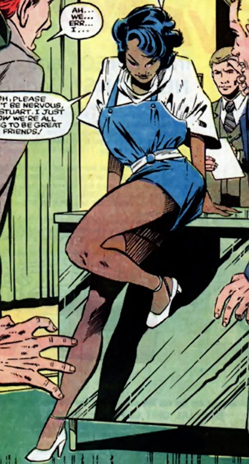 Deadly Nightshade (Captain America character) (Marvel Comics) in a blue minidress