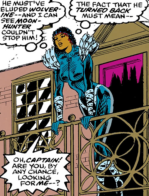 Deadly Nightshade (Captain America character) (Marvel Comics) at a balcony