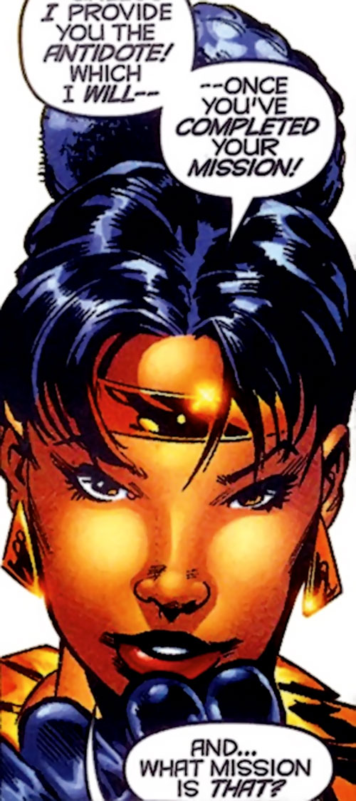 Deadly Nightshade (Captain America character) (Marvel Comics) face closeup with tiara
