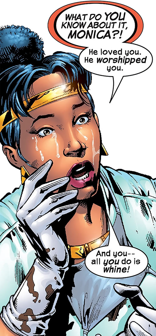 Deadly Nightshade (Captain America character) (Marvel Comics) crying in medical scrubs