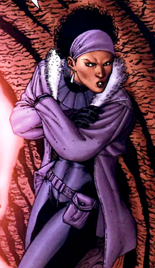Deadly Nightshade (Captain America character) (Marvel Comics) purple ensemble