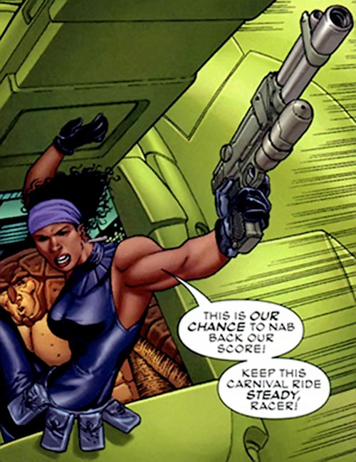 Deadly Nightshade (Captain America character) (Marvel Comics) aiming her pistol