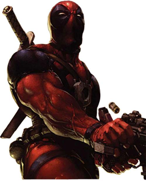 Deadpool dual-wielding pistols
