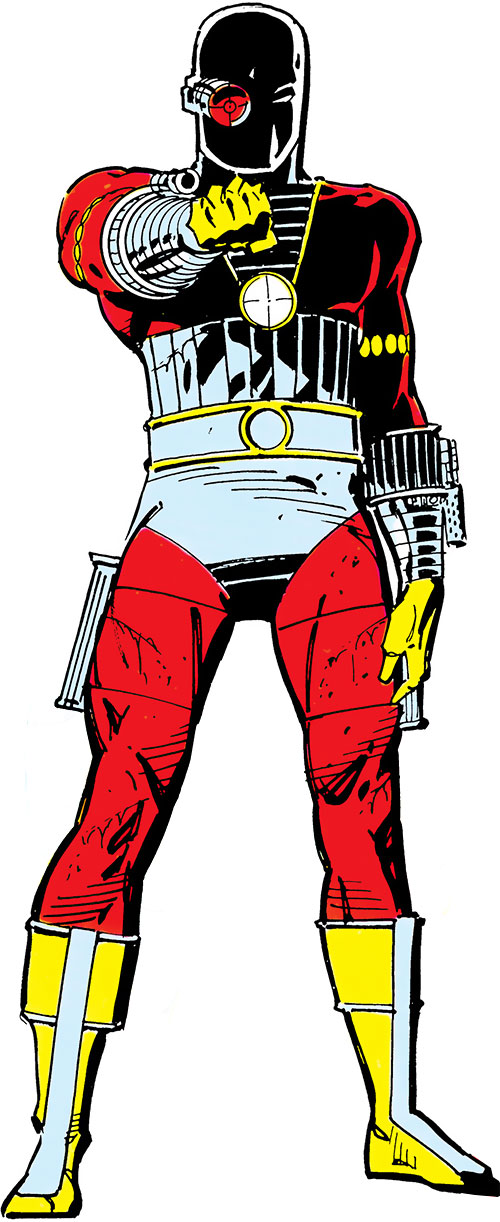 Deadshot over a white background