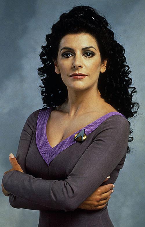 Deanna Troi (Marina Sirtis in Star Trek TNG)