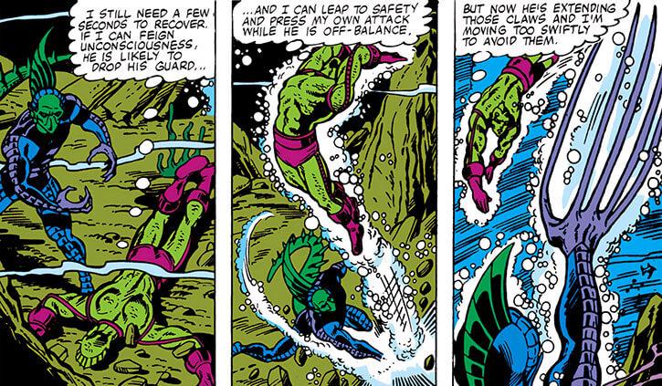 Death Adder (Marvel Comics) fighting Triton underwater