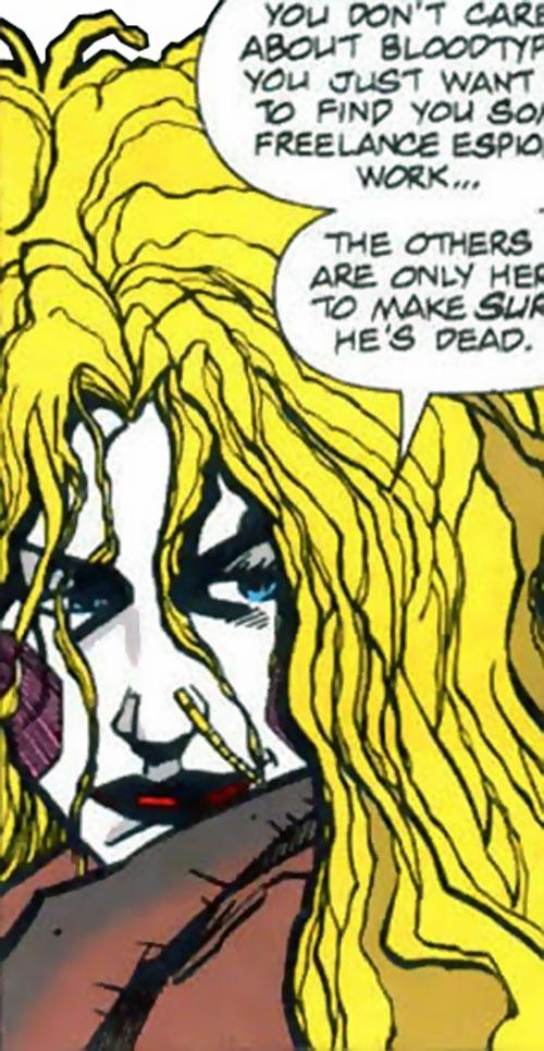 Death Doll (Aztek enemy) (DC Comics) face closeup