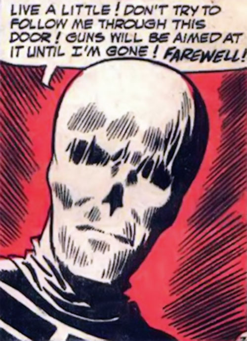 Death-Man (Batman enemy) (DC Comics) (Silver Age) face closeup