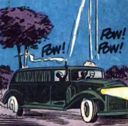 Death-Man (Batman enemy) (DC Comics) (Silver Age) hearse