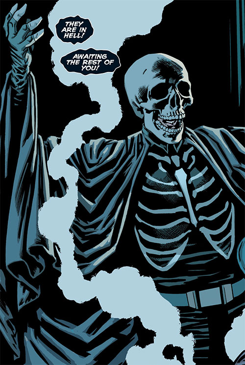 Death-Man (Batman enemy) (DC Comics) (Morrison version) dramatic entrance