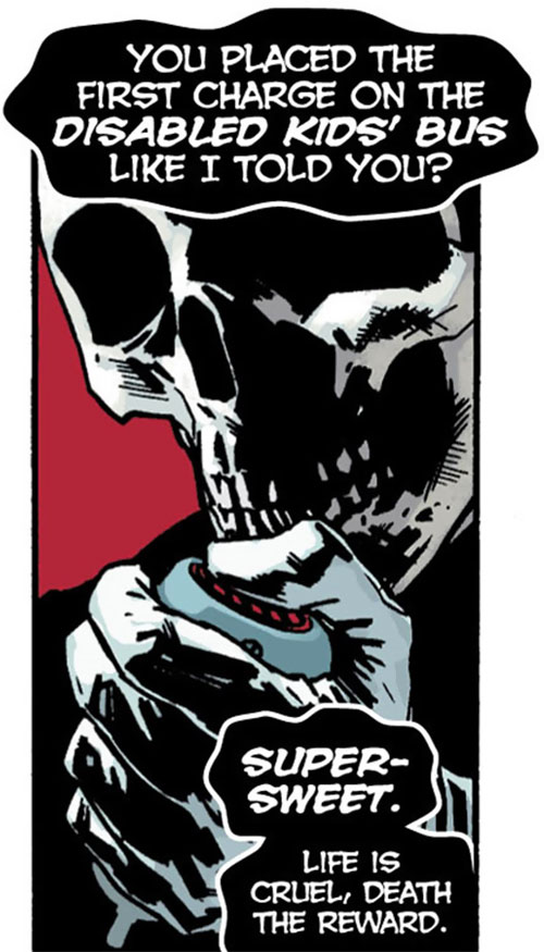 Death-Man (Batman enemy) (DC Comics) (Morrison version) on the radio