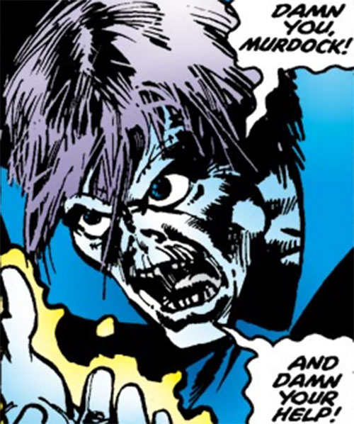Death-Stalker (Daredevil enemy) (Marvel Comics) face closeup