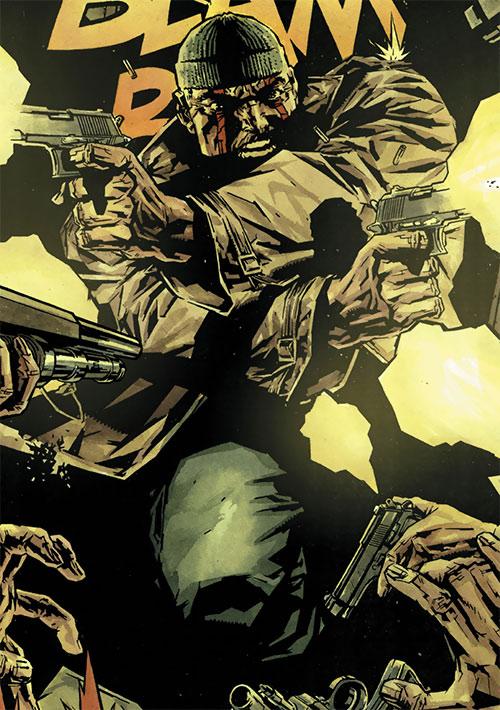 Deathblow (Image Comics) dual-wielding pistols