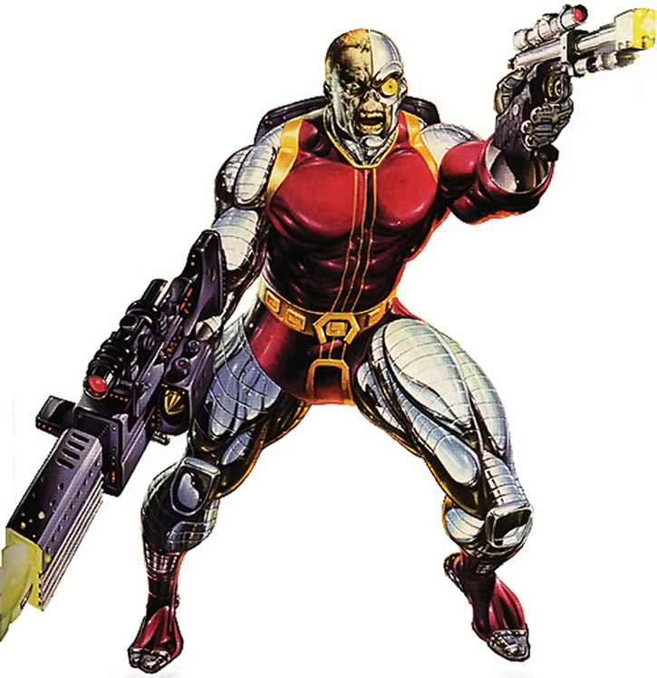 Deathlok (Michael Collins) with plasma guns